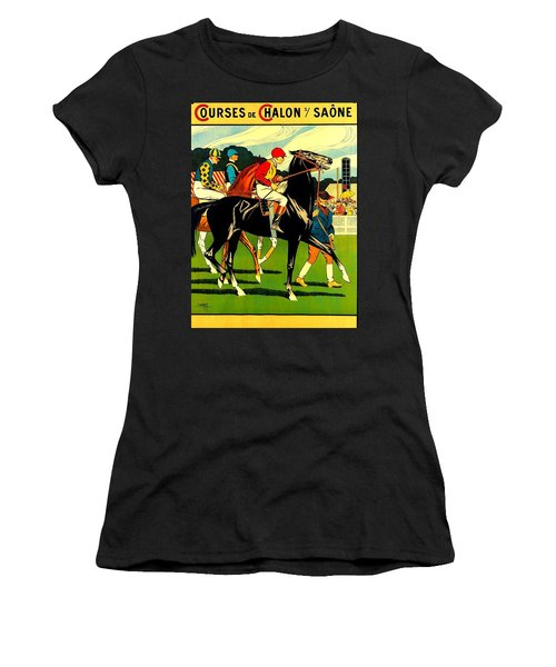 Courses De Chalon French Horse Racing 1911 II Women's T-Shirt (Athletic Fit)