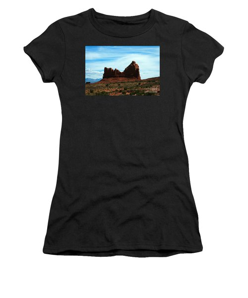 Courthouse Rock In Arches National Park Women's T-Shirt