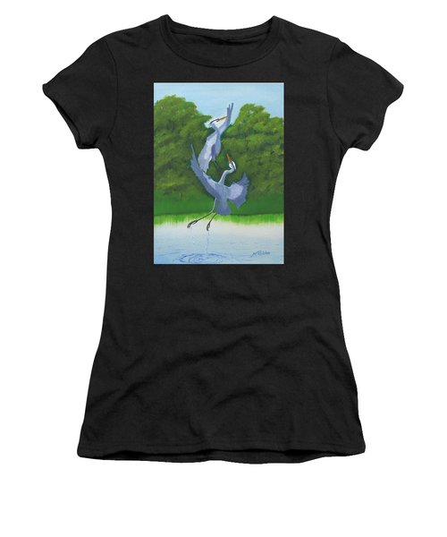 Courtship Dance Women's T-Shirt (Athletic Fit)