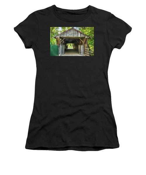 Covered Bridge Hdr Women's T-Shirt (Athletic Fit)
