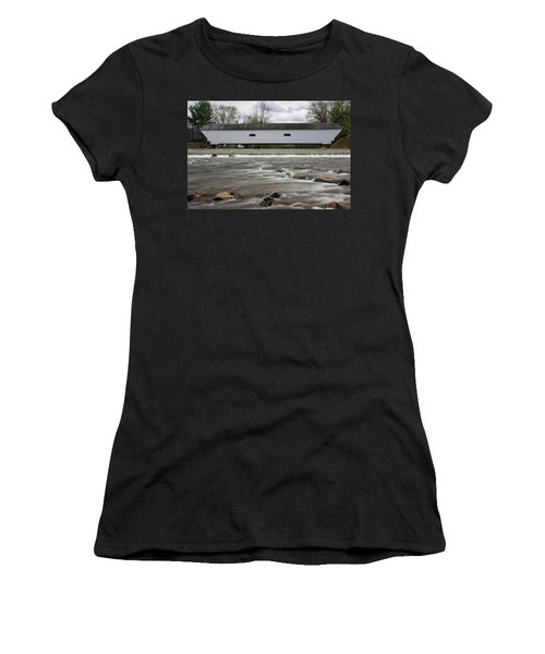 Covered Bridge In March Women's T-Shirt (Athletic Fit)