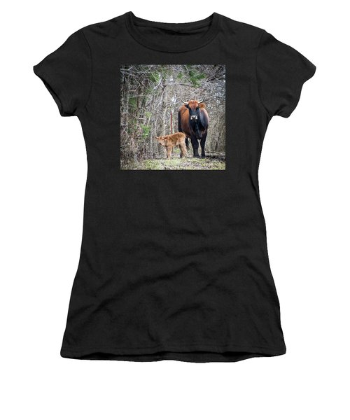 Cow And Calf Women's T-Shirt (Athletic Fit)
