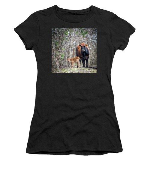 Cow And Calf Women's T-Shirt