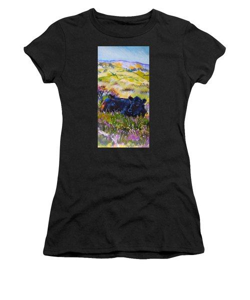 Cow Lying Down Among Plants Women's T-Shirt