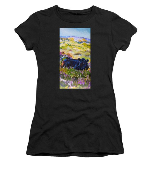 Cow Lying Down Among Plants Women's T-Shirt