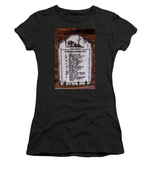 Cowboy Commandments Women's T-Shirt