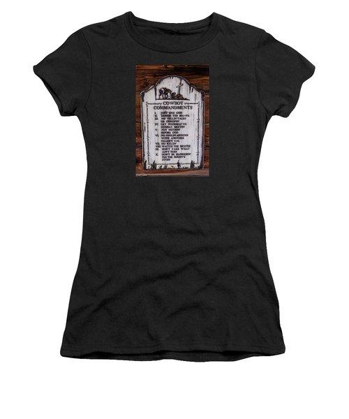 Cowboy Commandments Women's T-Shirt (Athletic Fit)