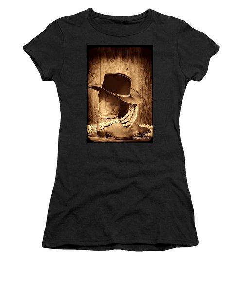 Cowboy Hat On Boots Women's T-Shirt
