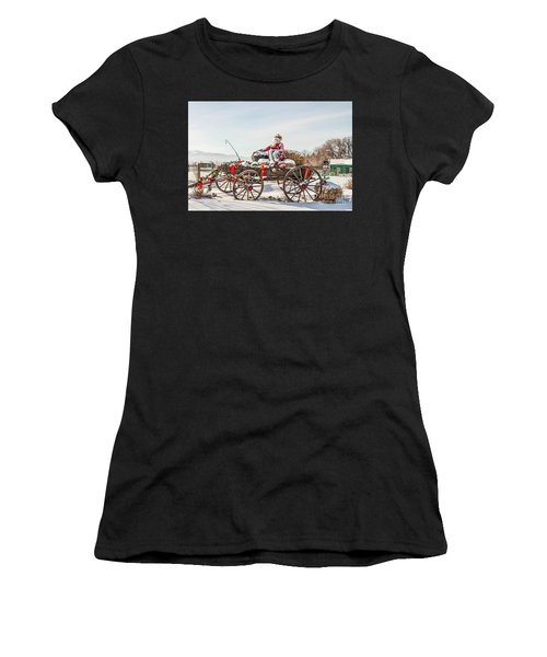 Cowboy Santa Taking A Quick Break Women's T-Shirt