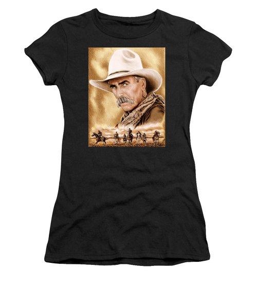 Cowboy Sepia Edit Women's T-Shirt (Athletic Fit)