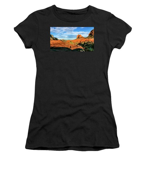 Cowpie 07-094p Women's T-Shirt (Junior Cut) by Scott McAllister