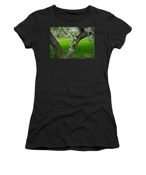 Crabapple Blossoms On A Rainy Spring Day Women's T-Shirt (Athletic Fit)