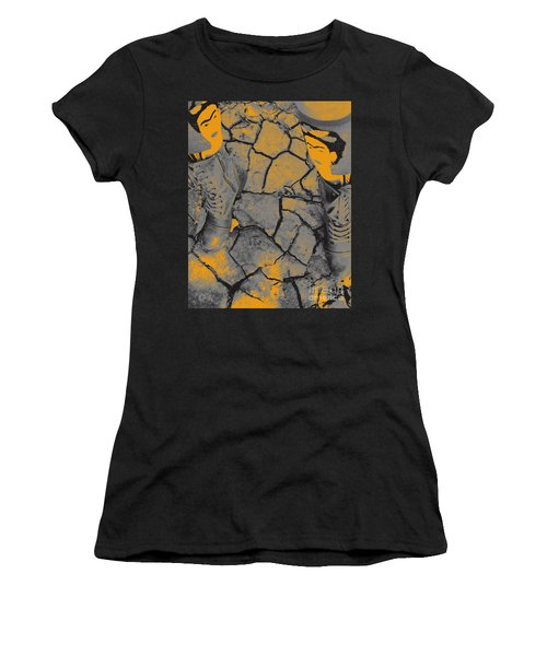 Cracked Earth With Frieda Khalo. Women's T-Shirt (Athletic Fit)