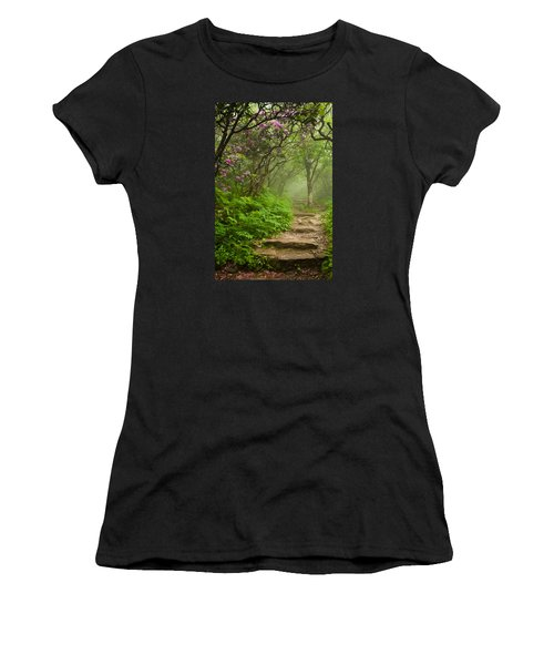 Craggy Steps Women's T-Shirt (Athletic Fit)