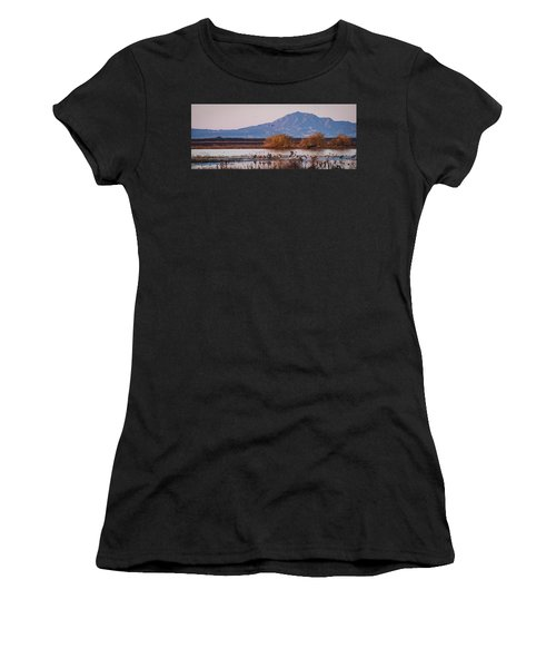 Cranes In The Morning Women's T-Shirt