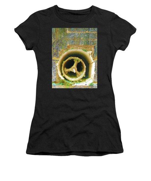 Women's T-Shirt (Junior Cut) featuring the mixed media Crank by Tony Rubino