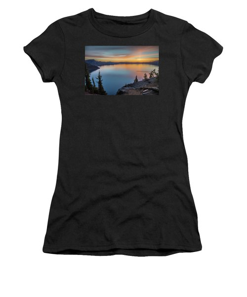 Crater Lake Morning No. 1 Women's T-Shirt (Athletic Fit)