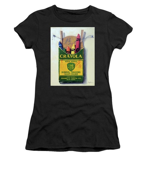 Crayola Crayons Painting Women's T-Shirt (Athletic Fit)
