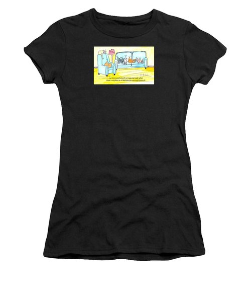 Crazy Cat Lady 0004 Women's T-Shirt (Athletic Fit)