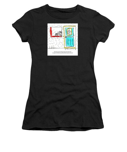 Crazy Cat Lady 0005 Women's T-Shirt (Athletic Fit)