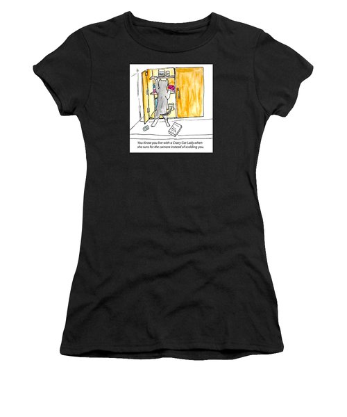 Crazy Cat Lady 001 Women's T-Shirt (Athletic Fit)