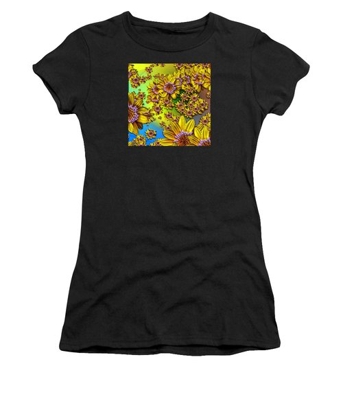 Crazy Daisies Women's T-Shirt (Athletic Fit)