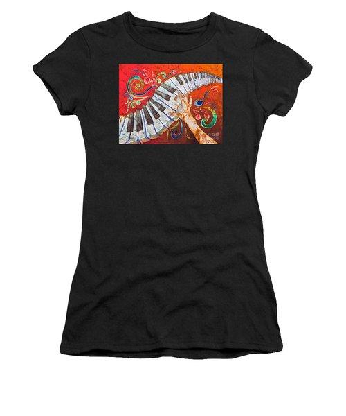 Crazy Fingers - Piano Keyboard  Women's T-Shirt