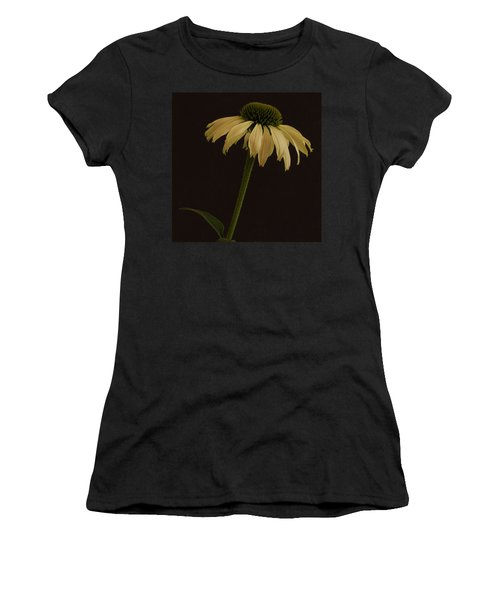 Creamy Yellow Coneflower Women's T-Shirt (Athletic Fit)