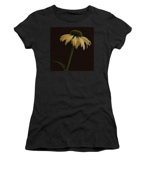 Creamy Yellow Coneflower Women's T-Shirt (Athletic Fit)