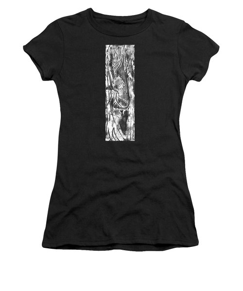 Women's T-Shirt (Junior Cut) featuring the painting Creator by Carol Rashawnna Williams