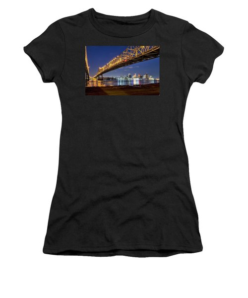 Crescent City Bridge, New Orleans Women's T-Shirt