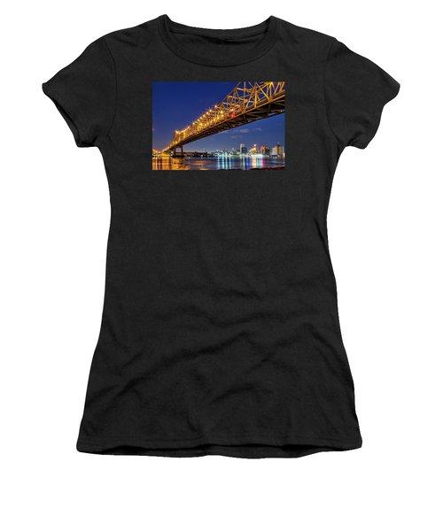 Crescent City Bridge, New Orleans, Version 2 Women's T-Shirt