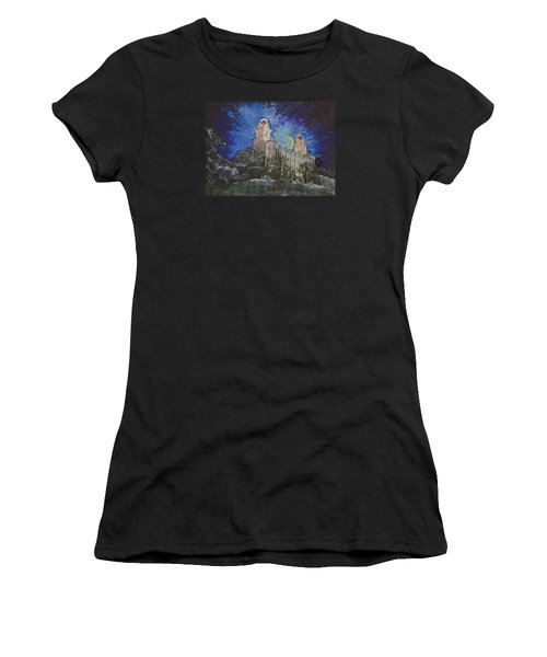 Crescent Moon Women's T-Shirt (Athletic Fit)