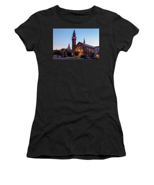 Crescent Moon Over Old Town Hall Women's T-Shirt