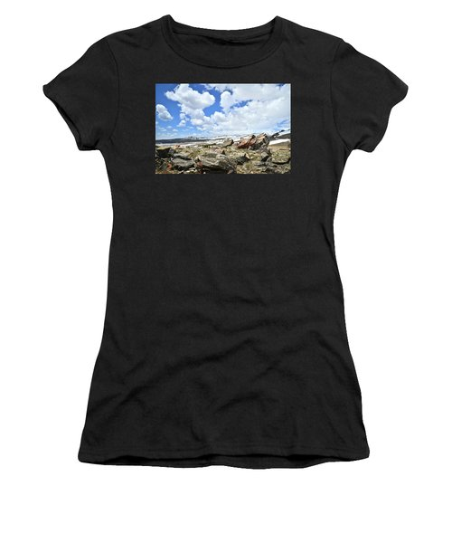 Crest Of Big Horn Pass In Wyoming Women's T-Shirt (Athletic Fit)