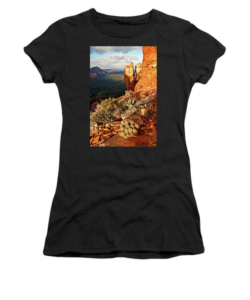 Crimson Cliffs 08-064 Women's T-Shirt (Athletic Fit)