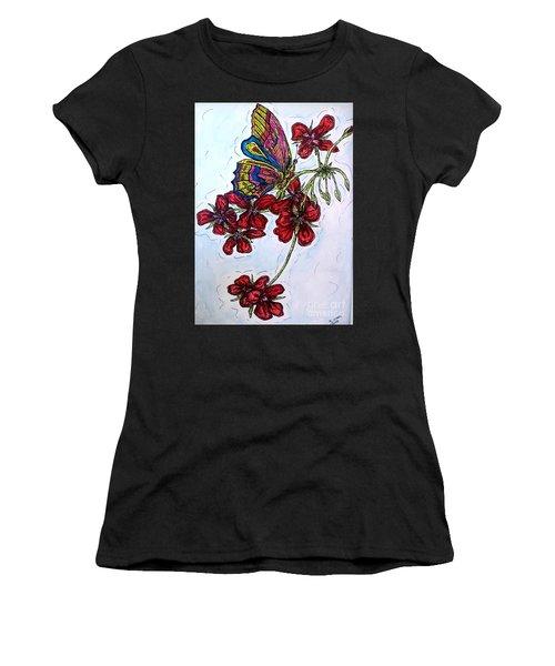 Crimson Fancy Women's T-Shirt (Athletic Fit)