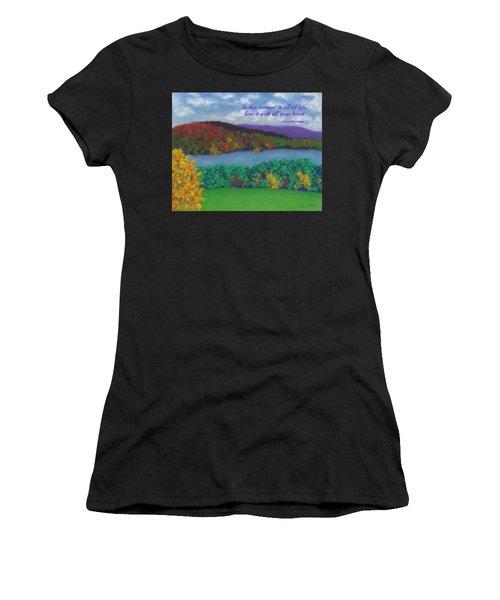 Crisp Kripalu Morning - With Quote Women's T-Shirt