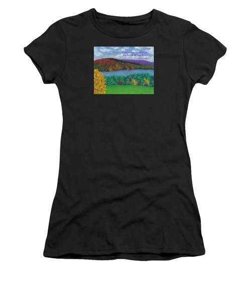 Crisp Kripalu Morning - With Quote Women's T-Shirt