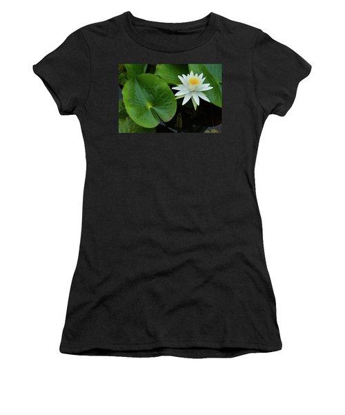 Crisp White And Yellow Lily Women's T-Shirt