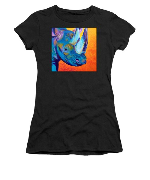 Critically Endangered Black Rhino Women's T-Shirt (Athletic Fit)