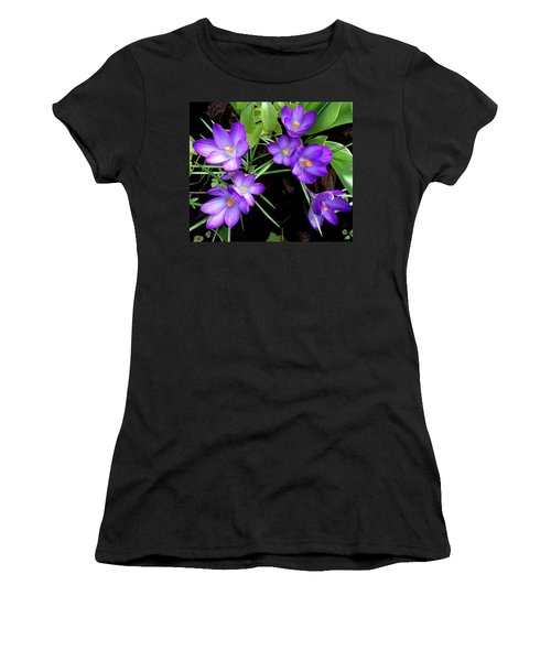 Crocus First To Bloom Women's T-Shirt (Athletic Fit)