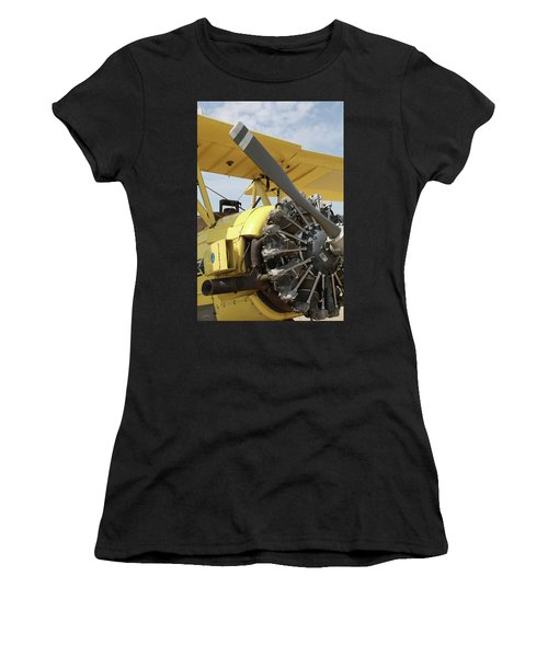 Crop Duster Women's T-Shirt (Athletic Fit)