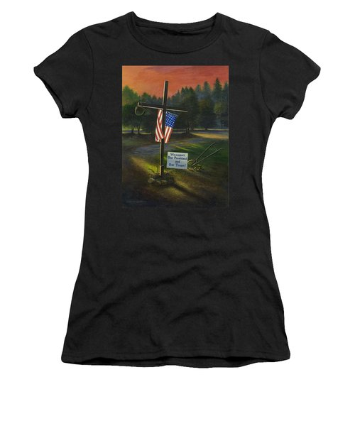 Cross Of Remembrance Women's T-Shirt