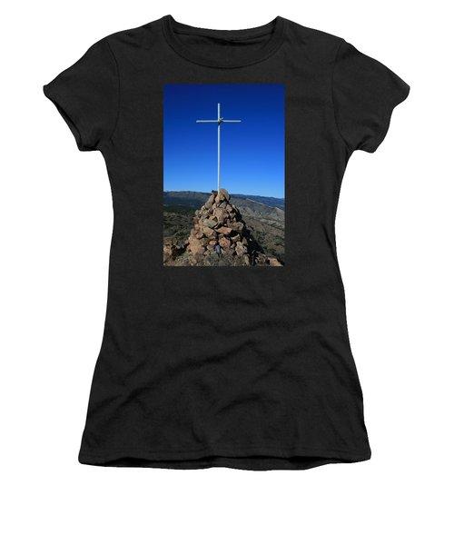 Cross On Fremont Peak Women's T-Shirt (Athletic Fit)