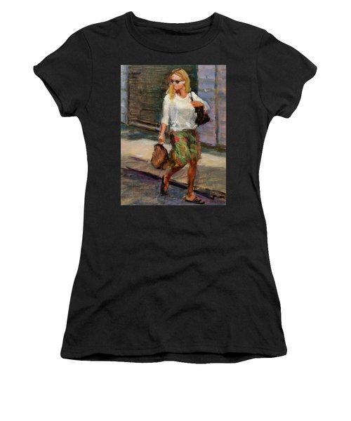 Crossing Adams Street Women's T-Shirt (Athletic Fit)