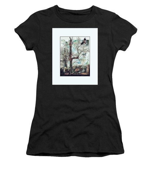 Crow At Ten Mile Creek Women's T-Shirt (Athletic Fit)