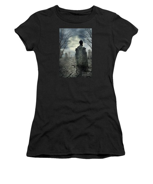 Crow On The Tombstone Women's T-Shirt
