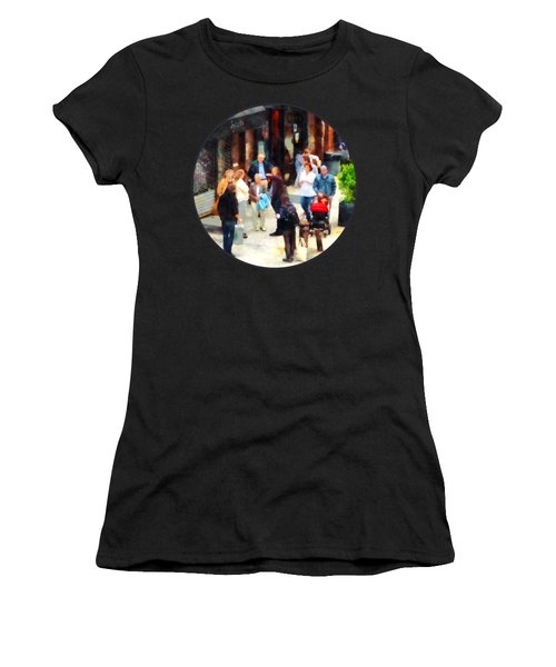 Crowded Sidewalk In New York Women's T-Shirt