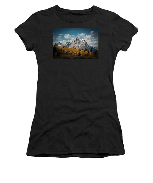 Crown For Tetons Women's T-Shirt (Junior Cut) by Edgars Erglis